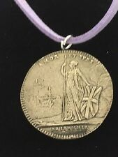 "Charles Edward Stuart Coin WC39 English Pewter On a 18"" Purple Cord Necklace"