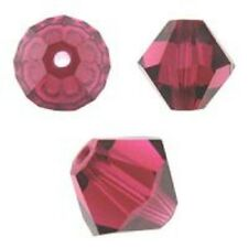 Swarovski Crystal Bicone. Ruby Color. 4mm. Approx. 144 PCS. 5328
