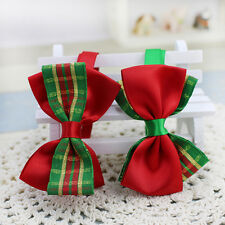 Christmas Xmas Adjustable Cat Dog Pet Cute Bowtie Teddy Bow Tie Collar Necktie