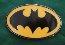 BATMAN EMBLEM Belt Buckle GTO SILVER-TONE ENAMEL - LICENSED DC COMICS 4""