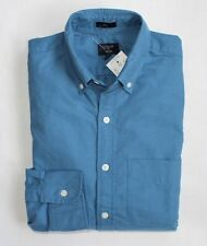J Crew Factory - Men's L - NWT - Adriatic Sea Blue Slim Fit Cotton Oxford Shirt