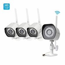 Zmodo Smart Wireless Security Cameras- 4 Pack- HD Indoor/Outdoor WiFi IP Came...
