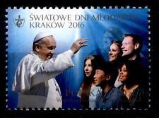 Weltjugendtag, Krakau. Papst Franziskus und Jugendliche. 1W. Polen 2016