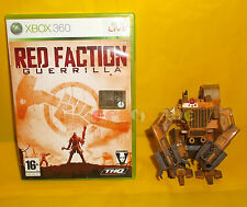 RED FACTION GUERRILLA + HEAVY ROBOT ACTION FIGURE XBOX 360 Italiano COMPLETO AI