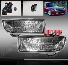 97 98 99 00 01 HONDA PRELUDE JDM BUMPER DRIVING CHROME FOG LIGHT LAMP+OEM SWITCH