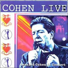 LEONARD COHEN Cohen Live CD BRAND NEW In Concert
