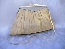Helena Gold Silver Purse Handmade Evening Bag Wire Mesh Clutch Chain Unique Gift