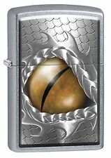 Zippo Lighter: Open Dragon Eye - Street Chrome