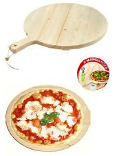 Tagliere tondo legno con manico cm 34 rotondo meeting mangiapizza porta pizza