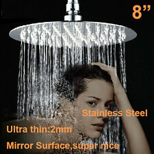 "New 8"" Inch(20CM)  Bathroom Room Chrome Large Round Mixer Fix Rain Shower Head"