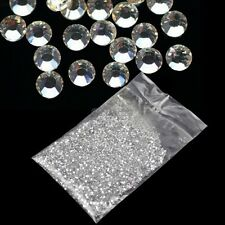 20000Pcs 1.5mm 3D Round Rhinestone Acrylic Nail Art Glitter Crystal Decor OK