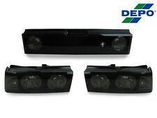 DEPO 90-91 HONDA CRX CR-X BLACK SMOKE 3 PIECES TAIL LIGHT