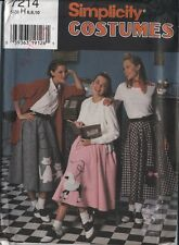 Halloween costume pattern 50s sock hop poodle skirt circle womans 6 8 10 FF dog