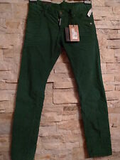 DSQUARED2 100%AUTHENTIC SEXY GREEN CORDUROY LOW RISE JEANS ITALY SIZE 44 / US 30