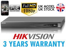 16 CHANNEL HIKVISION VIDEO RECORDER IP NVR 16 POE 6MP 1080P ONVIF VCA P2P 160MB
