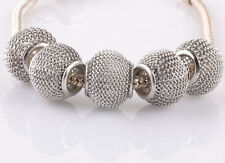 5pcs gray gauze hollow big hole spacer beads fit Charm European Bracelet #B944