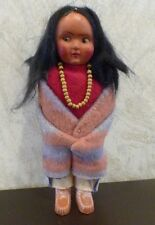 Vintage Skookum Bully Good Handmade Indian Doll Native Child 6.5""