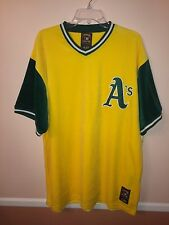 """Oakland A's Velour Jersey Size Large """"NWT"""" Cooperstown Collection Free Shipping"""