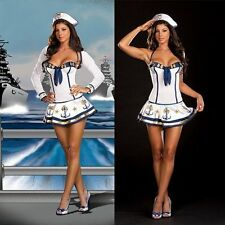Ladies Sailor Naval  Uniform Fancy Dress Costume Ladies Sailor Costume f1189