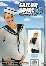 Hello Sailor Matey Sailor Girl Set Fancy Dress Hat & Scarf Set Fancy Dress
