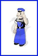 """Vintage 16 """"Popeye doll-robe à motifs de couture /"""