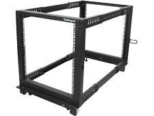 StarTech.com 12U Adjustable Depth Open Frame 4 Post Server Rack w/ Casters / Lev