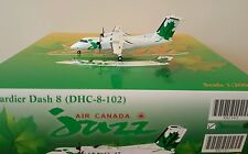 1:200 Air Canada Jazz Green DASH 8 100 Diecast Model by JC Wings