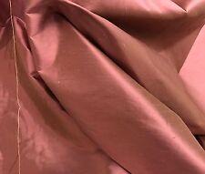 """ROSE PINK GREEN 2TONE 100% SILK DUPIONI FABRIC 54"""" WIDE 1 YARD"""