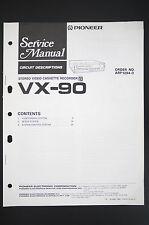PIONEER VX-90 VCR Circuit Description Service-Manual/Anleitung/Schaltplan! o77