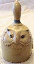 Vintage Pottery Owl Bell