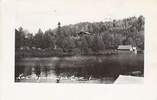 Vintage REAL PHOTO POSTCARD c1956 Lac Paquin QUEBEC CANADA