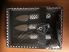 C. Wonder Cheese Knives SET of 3 MOROCCAN GEO Indigo MSRP $34.00 RARE