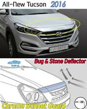 Bonnet Hood Guard Chrome Front Garnish Deflector for Hyundai All New Tucson 2016
