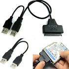 SATA 7+15 Pin 22Pin to USB 2.0 Adapter Cable For 2.5 HDD Laptop Hard Disk Drive