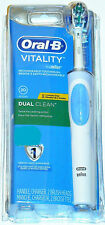 NEW~Oral-B Vitality DUAL CLEAN Rechargeable Toothbrush w/Replacement Refill Head