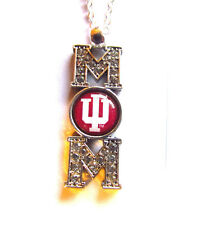 UNIVERSITY OF INDIANA HOOSIERS  MOM  NCAA HOOK NECKLACE NWT DOME STYLE