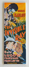 The Invisible Ray FRIDGE MAGNET (1.5 x 4.5 inches) insert movie poster karloff
