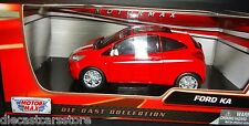 Motor Max  2008 Ford KA Red W/ White Stripes 1/24 Diecast Car Model 73382rd