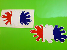 FRANCE / FRENCH Flag Splat Van Car Motorcycle Stickers Decals 2 off 100mm