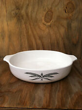 Anchor Hocking Cookware White With Wheat Pattern Casserole Dish