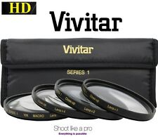 Hi Def Vivitar 4-Pcs Kit 40.5mm Close-up Macro Lens Set (+1 +2 +4 +10)