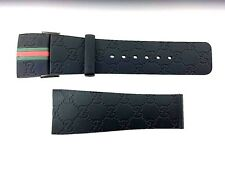 I Gucci 26mm Genuine Replacement Black Rubber Strap Men's I Gucci YA114207 Watch