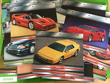 Atlas Editions Collectable Dream Cars cards (Encyclopedic Card System) 36 cards