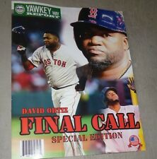 October 2016 Yawkey Way Report Red Sox Program David Ortiz Final Game Day