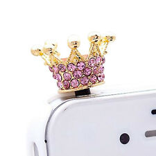 Crown 3.5mm Anti Dust Earphone Plug Cover Stopper Cap For Phone color random HM