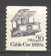 USA 1985 Transport/Cable Car/Rail/Bus/Tram 1v (n24539)