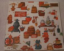 Vintage 29x20 General Store Kitchen Present Wrapping Paper Sheet