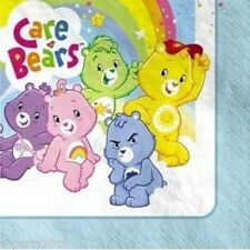 CARE BEARS LARGE NAPKINS (16) ~ Birthday Party Supplies Dinner Luncheon Funshine
