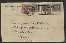 ITALY 1929 URGENTE EXPRESS CANCEL FIRENZE TO US FRANKED Sc. 199 STRIP OF 3 & 20¢