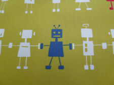 Harlequin Fabric 'Reggie Robot' 2.7 METRES Lime All About Me Fabrics 100% Cotton
